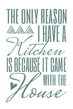 Funny kitchen sign template