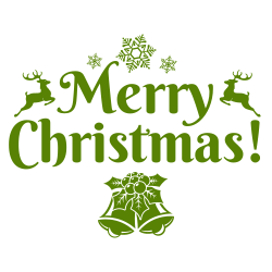 Merry Christmas Signage Template