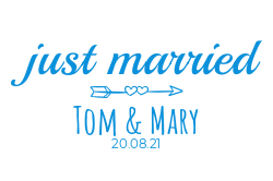 Just married sign template