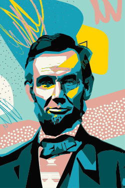 Abraham Lincoln abstract template