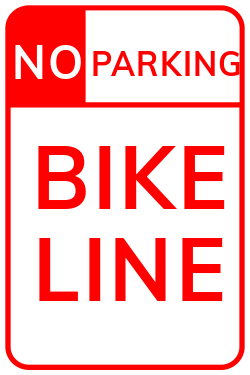 No parking bike line | Parking for Bikes is forbidden