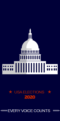 Elections 2020 | Capitol building on a dark background