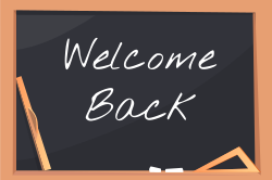 Back to school welcome sign template