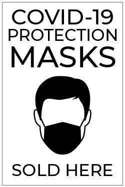 COVID 19 protection masks sold here template