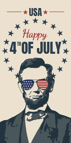 Abraham Lincoln Patriotic Poster | Celebrate 4th of July