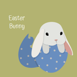 Easter Bunny template for decorating your venue