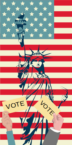This template will create a winning atmosphere for your campaigns along with the symbols of US. The US flag, Statue of Liberty will lead people to vote for the prosperity of the US.