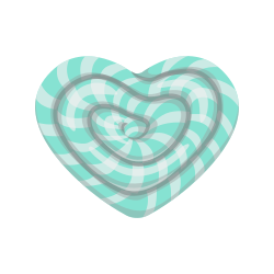 Heart Shaped candy template