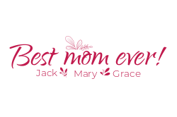 Customizable template for Mother's Day