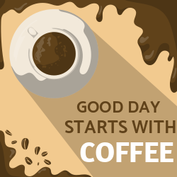 Good day starts with coffee menu template