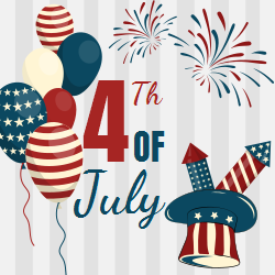 Festive 4th of July template | Prepare for the Celebration