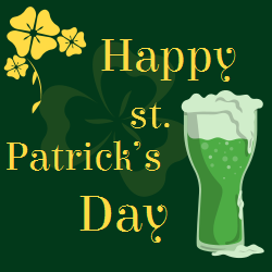 St. Patrick's day template   happy holidays