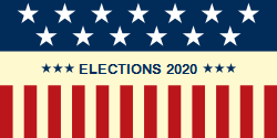 Elections 2020 | Designed with US flag