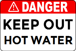 "If you have an issue related to the hot water which is not being fixed for now, you can use one of our ""danger-warning "" templates to aware people about it."