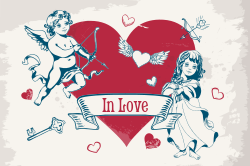 Cupid in love Valentine's Day template