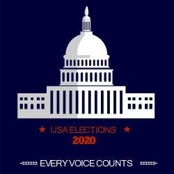 Elections 2020 Capitol Building On A Dark Background