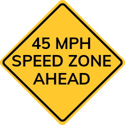 Speed Zone Ahead Sign | Indicates change of speed limit