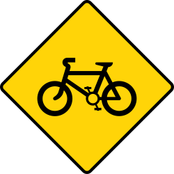 Bicycle sign | Road Traffic template