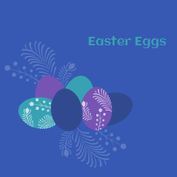 Easter template for celebration in an unique way