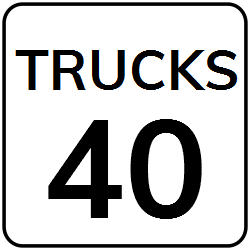 Truck Speed Limit Sign | Warns to keep speed under mentioned limit