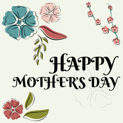 Happy mother's day template | designed by various flowers