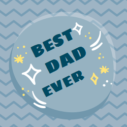 Best dad ever template for decorative signs