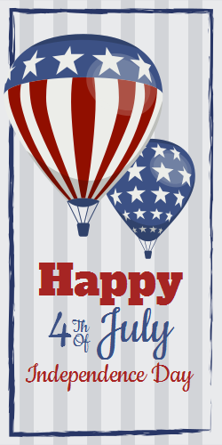 Patriotic Hot Air Balloons | Happy Independence Day