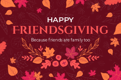 Happy Friendsgiving signage template