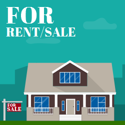 For Rent Sale | Add is Mounted outside of the House