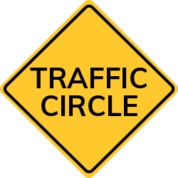 Traffic circles are a way to control traffic at intersections.