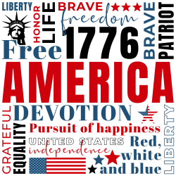 4th of July decorative sign template