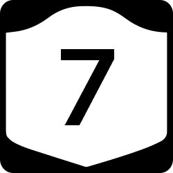 New York Single Digit state route shield