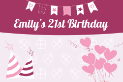 Birthday party signage template