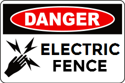 Danger Warning Template Electric Fence Red And Black