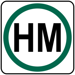 Hazardous Material Route sign | Hazardous Material may be carried