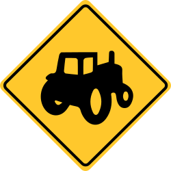 Alternative Tractor Crossing Sign | Warning sign with tractor symbol