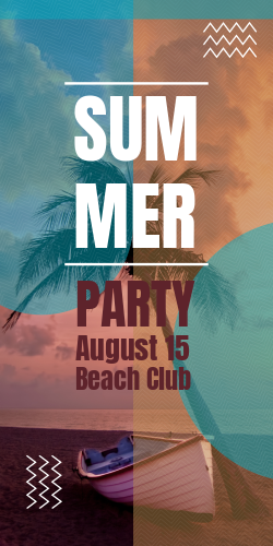 Beach Club | Summer Party Decorative Display template