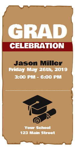 Invitation card template - graduation party