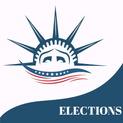 Elections Statue Of Liberty Image White And Blue Background