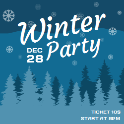 Winter Party | The Date and Ticket Price Information on the Template