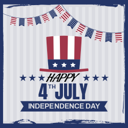 Happy 4th of July | Independence Day Celebration Poster