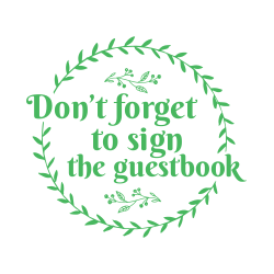 Wedding guestbook sign template