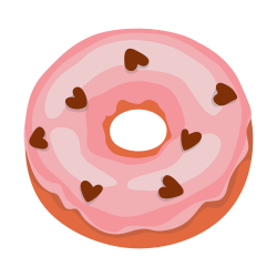 Doughnut template for decorative signs