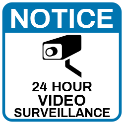 Notice 24 Hours Video Surveillance Cctv