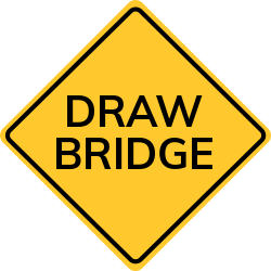Draw bridges can cause unexpected delays   warn of what lies ahead