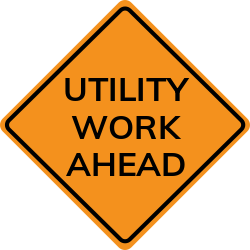 Utility work in road sign | Use to help protect the safety in road