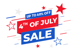 4th of July promotional sign template