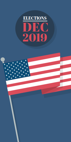 Elections DEC 2019 | USA Flag Image