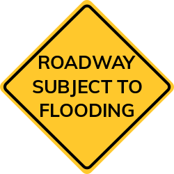 Flooding sign | Section of roadway is subject to frequent flooding