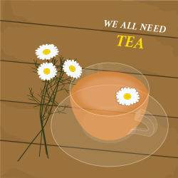 Tea with the flavor of chamomile | Cozy and warm template